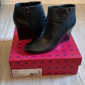 Tory Burch Shoes - Tory Burch Lowell Wedge Bootie